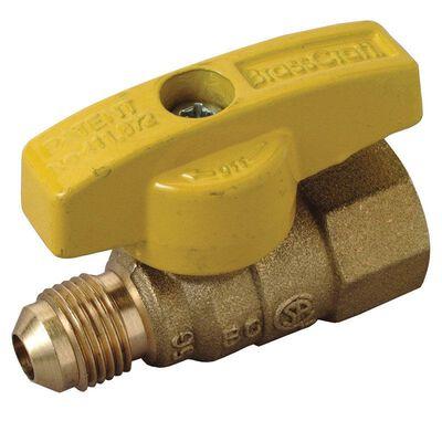Brasscraft Magne Flo 3/8 in. Dia. x 1/2 in. Dia. Ball Gas Valve Brass