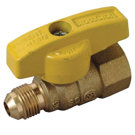 Brasscraft Magne Flo 3/8 in. Dia. x 1/2 in. Dia. Ball Gas Valve Brass