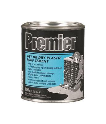Premier Asphalt Wet/Dry Surface Roof Cement 30 oz. Black