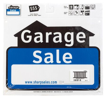 Hy-Ko English 12 in. H x 13 in. W Plastic Sign Garage Sale