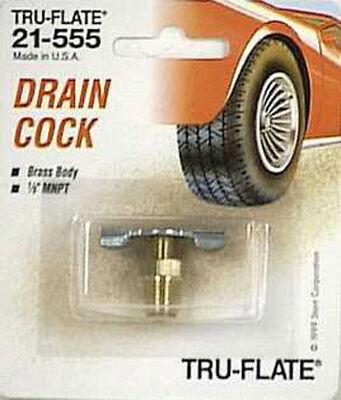 Tru-Flate Brass/Steel Drain Cock 1/8 in. NPT