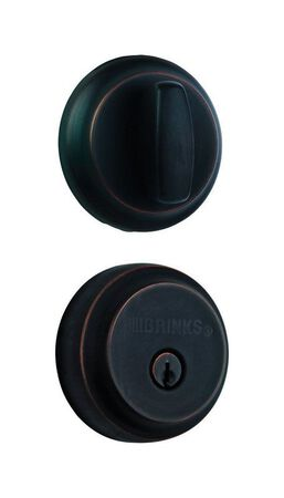 HAMPTON Brinks Home Security Oil-Rubbed Door Bolt