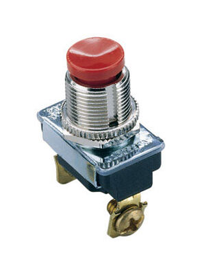 Gardner Bender 3 amps Silver/Red Push Button Momentary Standard Momentary Switch Single Pole 1