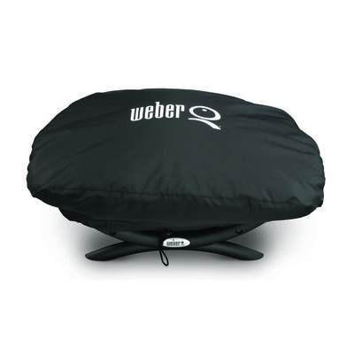 Weber Black Grill Cover 12.4 in. H x 17.3 in. W x 26.3 in. D Fits Q100/1000 Series