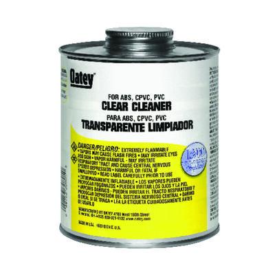 Oatey Clear PVC/CPVC/ABS Cleaner 16 oz.