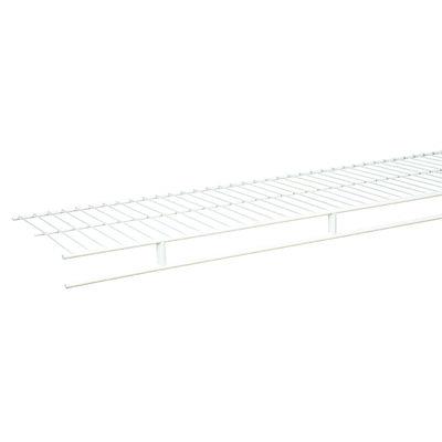 Rubbermaid 8 ft. L x 96 in. H x 12 in. W Wardrobe Shelf White