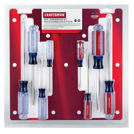 Craftsman 8 Piece Assorted Screwdriver Set Assorted 1 pc.