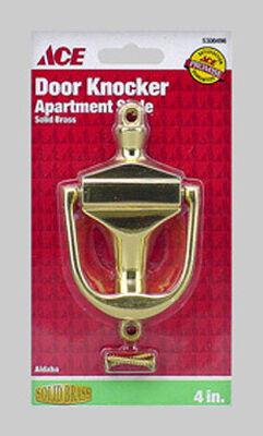 Ace 4 in. L Solid Brass Door Knocker