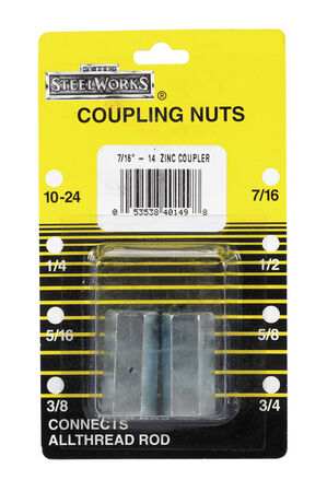 Boltmaster Coupling Nut 7/16 in. Carbon Steel