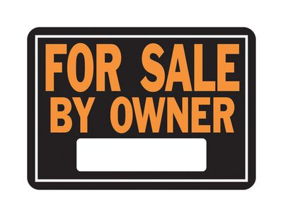 Hy-Ko English 10 in. H x 14 in. W Aluminum Sign For Sale by Owner