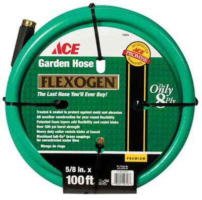 Ace 5/8 in. Dia. x 100 ft. L Garden Hose Kink Resistant
