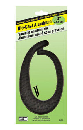 Hy-Ko Nail On Black Aluminum Number 0 3-1/2 in.
