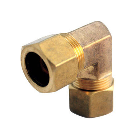 Ace 5/16 in. Dia. x 5/16 in. Dia. Compression To Compression To Compression 90 deg. Yellow Brass