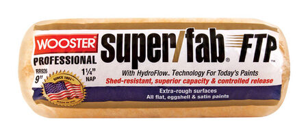 Wooster Super/Fab FTP Synthetic Blend Paint Roller Cover 1-1/4 in. L x 9 in. W