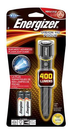 Energizer Vision HD 300 lumens Flashlight LED AA Metallic