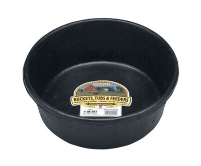 Miller 4 qt. Feed Pan For Livestock 4 in. H