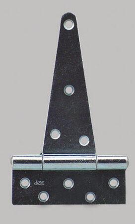 Ace Steel Heavy Duty T Hinge 10 in. L Zinc 1 pk
