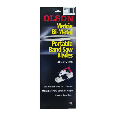 Olson 44.9 in. L x 0.5 in. W Bi-metal Portable Band Saw Blade