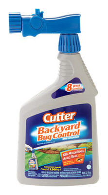 Cutter Backyard Bug Control Insect Killer For Mosquitoes Ants and Fleas 32 oz.
