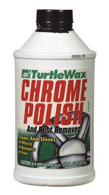 Turtle Wax Chrome Polish Liquid Automobile Polish 12 oz. For Cleaning And Shining Wheels Bumper