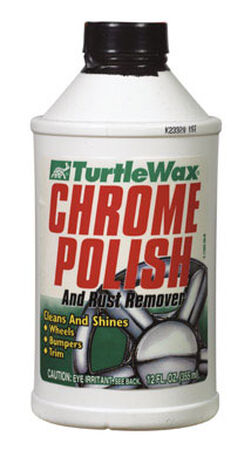 Turtle Wax Chrome Polish Liquid Automobile Polish 12 oz. For Cleaning And Shining Wheels Bumper