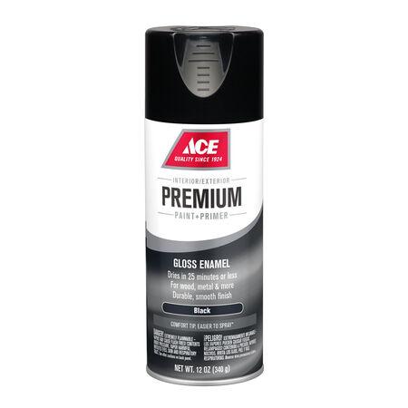 Ace Premium Gloss Black Enamel Spray Paint 12 oz.