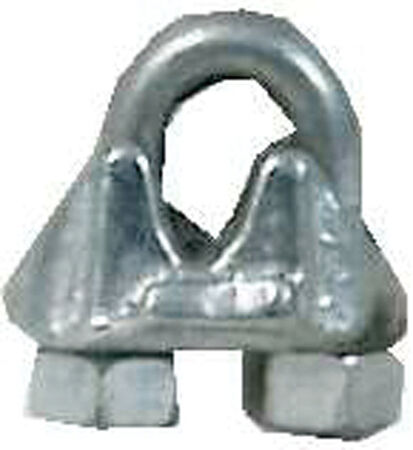 Campbell 0.2 in. Dia. Galvanized Malleable Iron Wire Rope Clip 100 pk