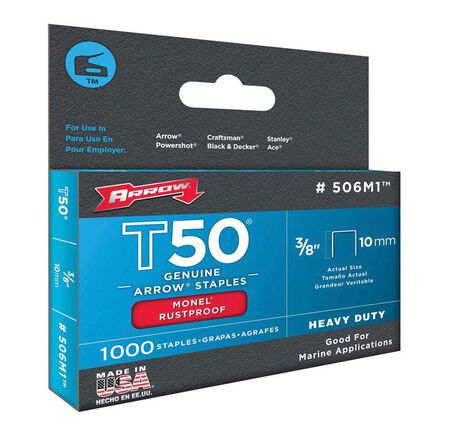 Arrow T50 Wide Heavy Duty Staples Gray 3/8 in. L