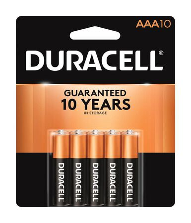Duracell Coppertop AAA Alkaline Batteries 1.5 volts 10 pk