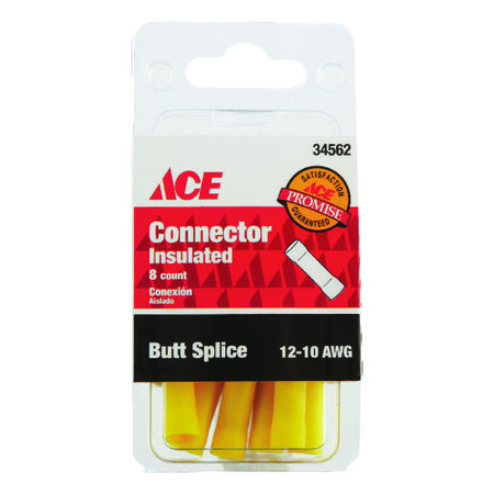 Ace Industrial Butt Connector 8 Vinyl Yellow