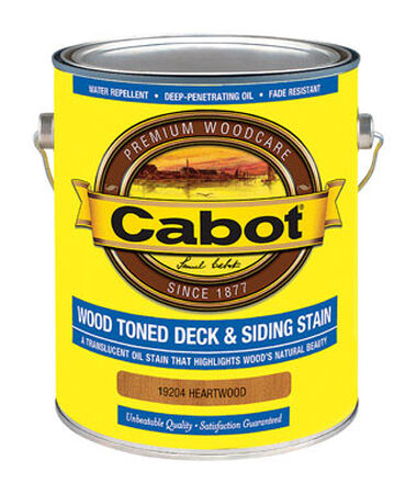Cabot Wood Toned Transparent Oil-Based Deck and Siding Stain Heartwood 1 gal.