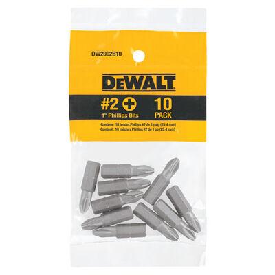DeWalt #2 in. Phillips Screwdriver Bit 10 pc.