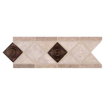 Tile Noce Chiaro Copper 4x12
