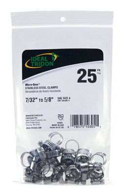 Ideal Tridon 7/32 in. to 5/8 in. Stainless Steel Hose Clamp