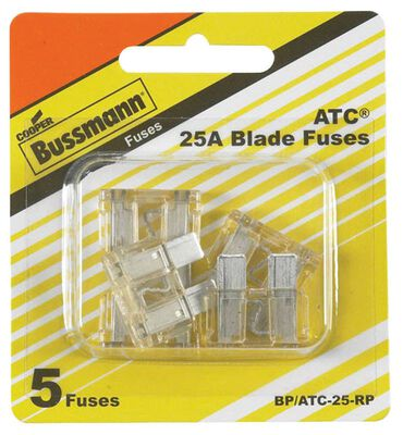 Bussmann 25 amps ATC Automotive Blade Fuse 5 pk