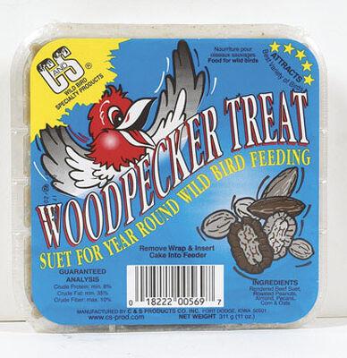 C&S Products Woodpecker Treat Assorted Species Suet Beef Suet 11 oz.