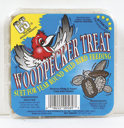 C&S Products Woodpecker Treat Assorted Species Suet Beef Suet 11 oz.