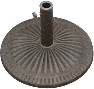 Bond Manufacturing Envirostone Umbrella Base 13.58 in. H x 21.5 in. W Bronze