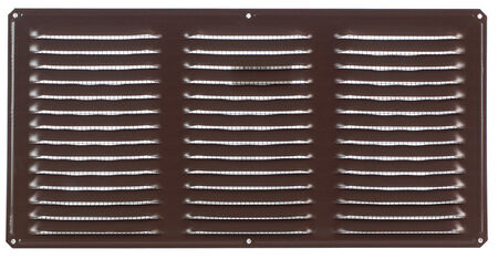 Air Vent Undereave Vent 16 in. x 8 in. 56 sq. in. 15 in. x 7 in. Aluminum Brown