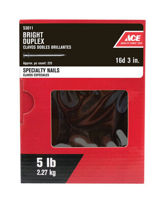 Ace Double 3 in. L Duplex Nail Bright 5 lb.