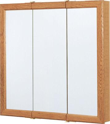 Continental Cabinets Medicine Cabinet Triview 28-3/4 in. x 30 in. x 4-1/4 in. Oak