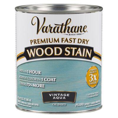 Varathane Premium Fast Dry Semi-Transparent Oil-Based Wood Stain Vintage Aqua 1 qt.