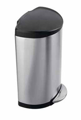 Simplehuman 10.5 Silver Round Step Wastebasket