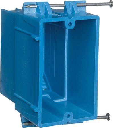 Carlon 3-3/4 in. H Rectangle 1 Gang Electrical Box Blue PVC