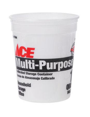 Ace Plastic Bucket 1 qt. Clear