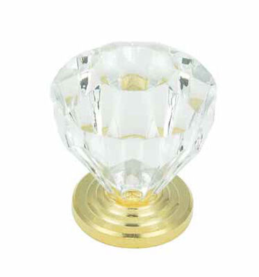 Amerock Traditional Octagonal Furniture Knob 1-1/4 in. Dia. 1-3/8 in. Burnished Brass 1 pk