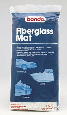 Bondo Fiberglass Mat 8 sq. ft. For Panels Molds & Bridging Areas