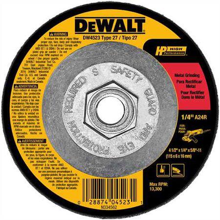 "4-1/2"" x 1/4"" x 5/8""-11 High Performance Metal Grinding Wheel"