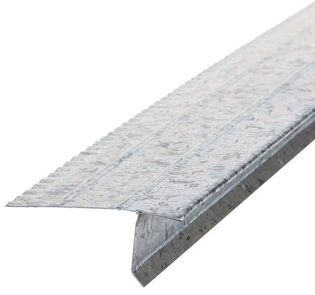 Amerimax Galvanized Steel Roof Flashing Drip Edge Silver 1 in. H x 10 ft. L x 2-7/16 in. W