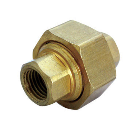 Ace 1/2 in. Dia. x 1/2 in. Dia. FPT To Compression To Compression Yellow Brass Union